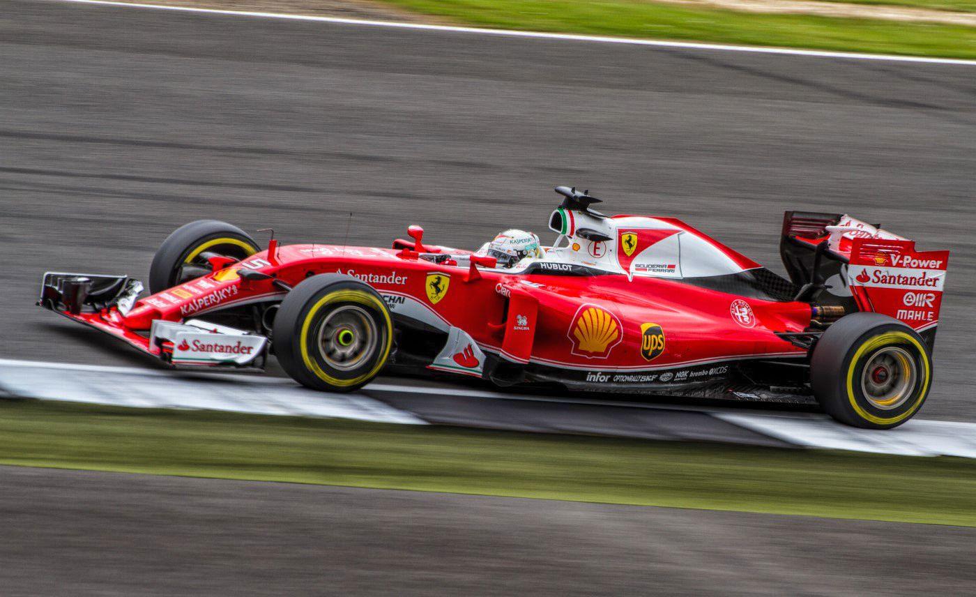 Vettel at the British GP