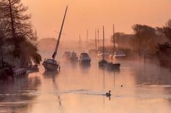 Golden Sunrise at Wareham Quay