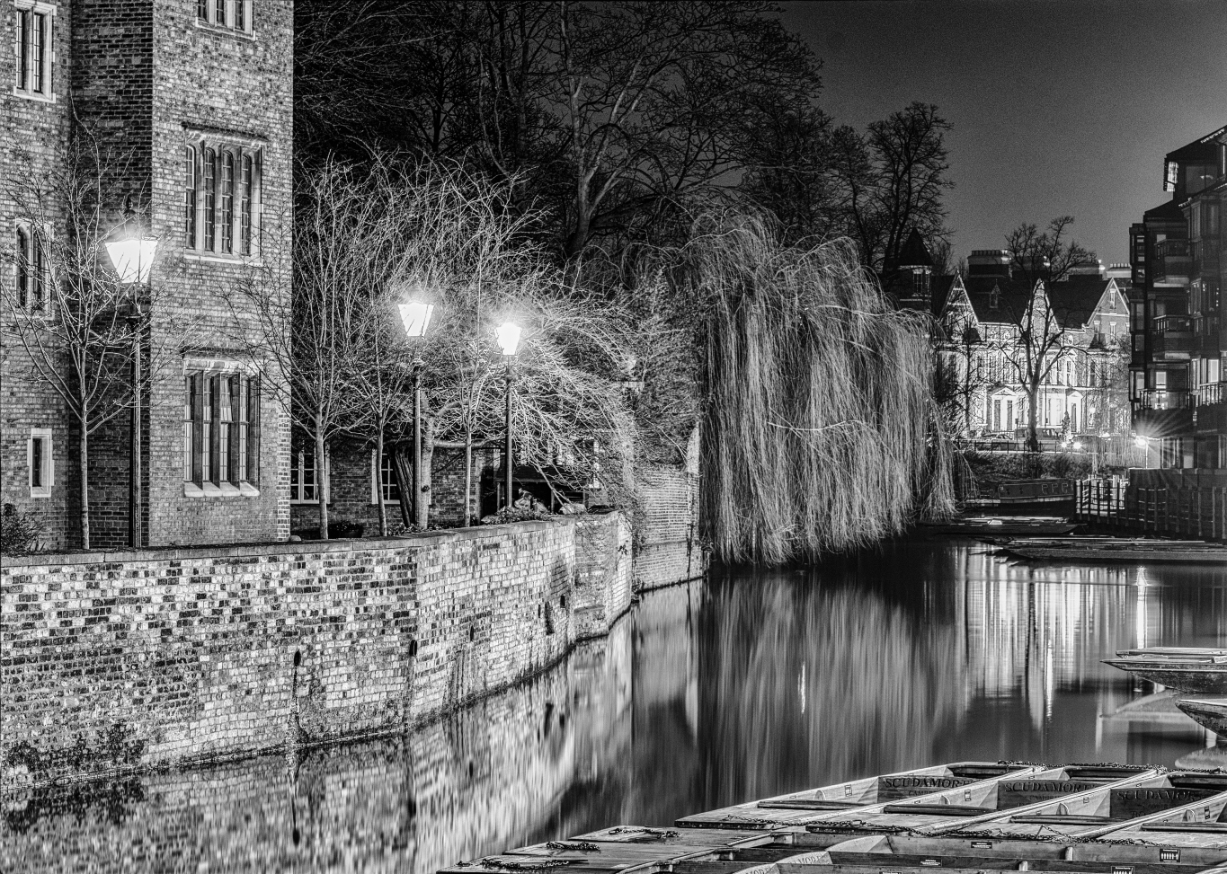 River Cam night view