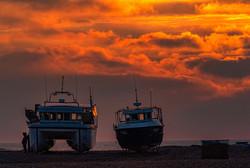 Dungeness beach at dawn