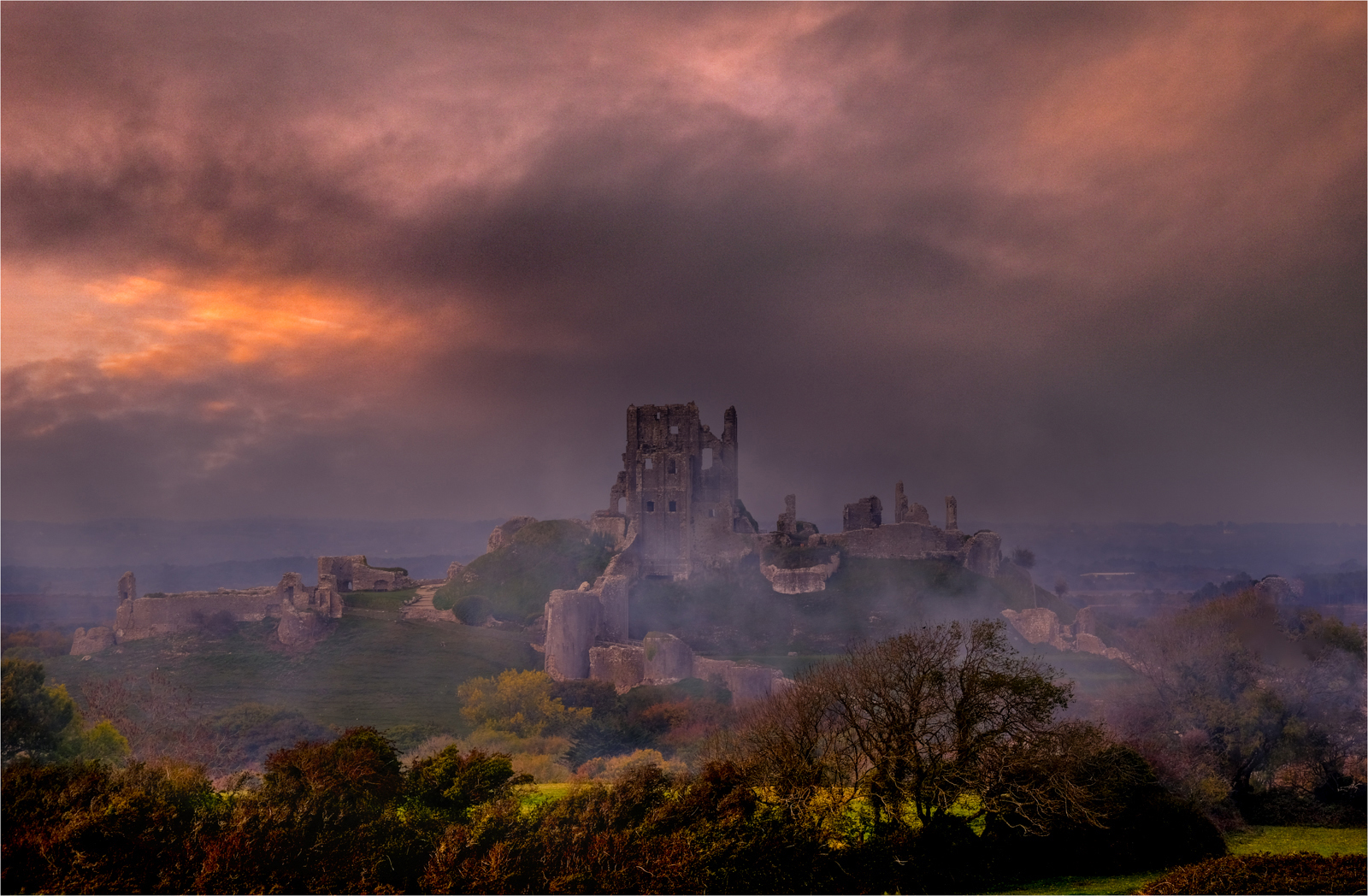 Fire over Corfe