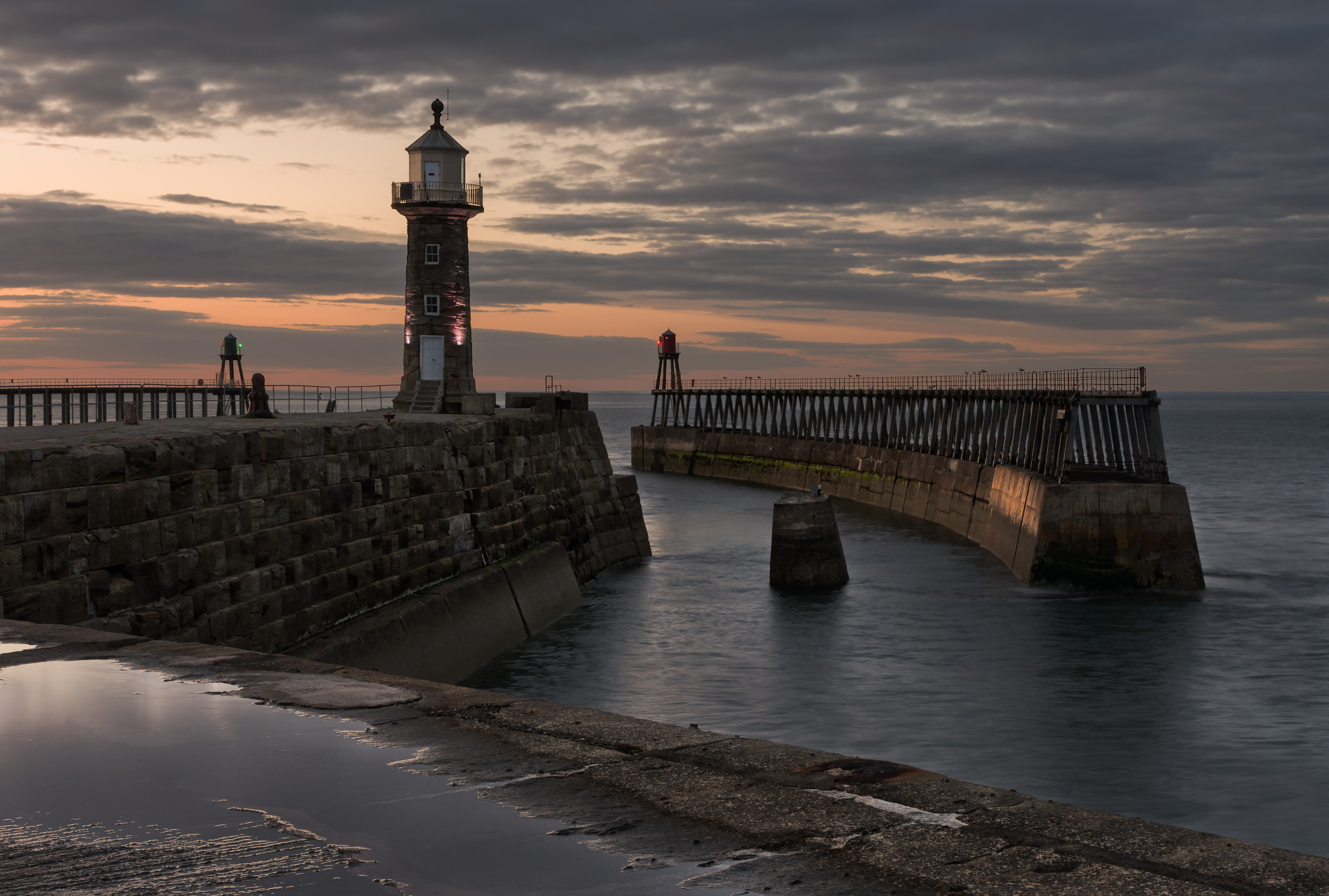 Evening on Whitby East Pier