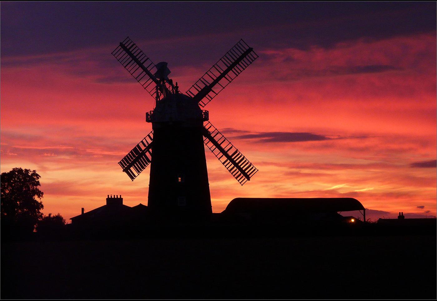 Mill Sails In The Sunset Pakenham