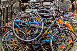 Lack Of Cycle Racks In City Centre Forces Cyclists To Double Park