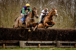 Over the jumps at Ampton Point to Point