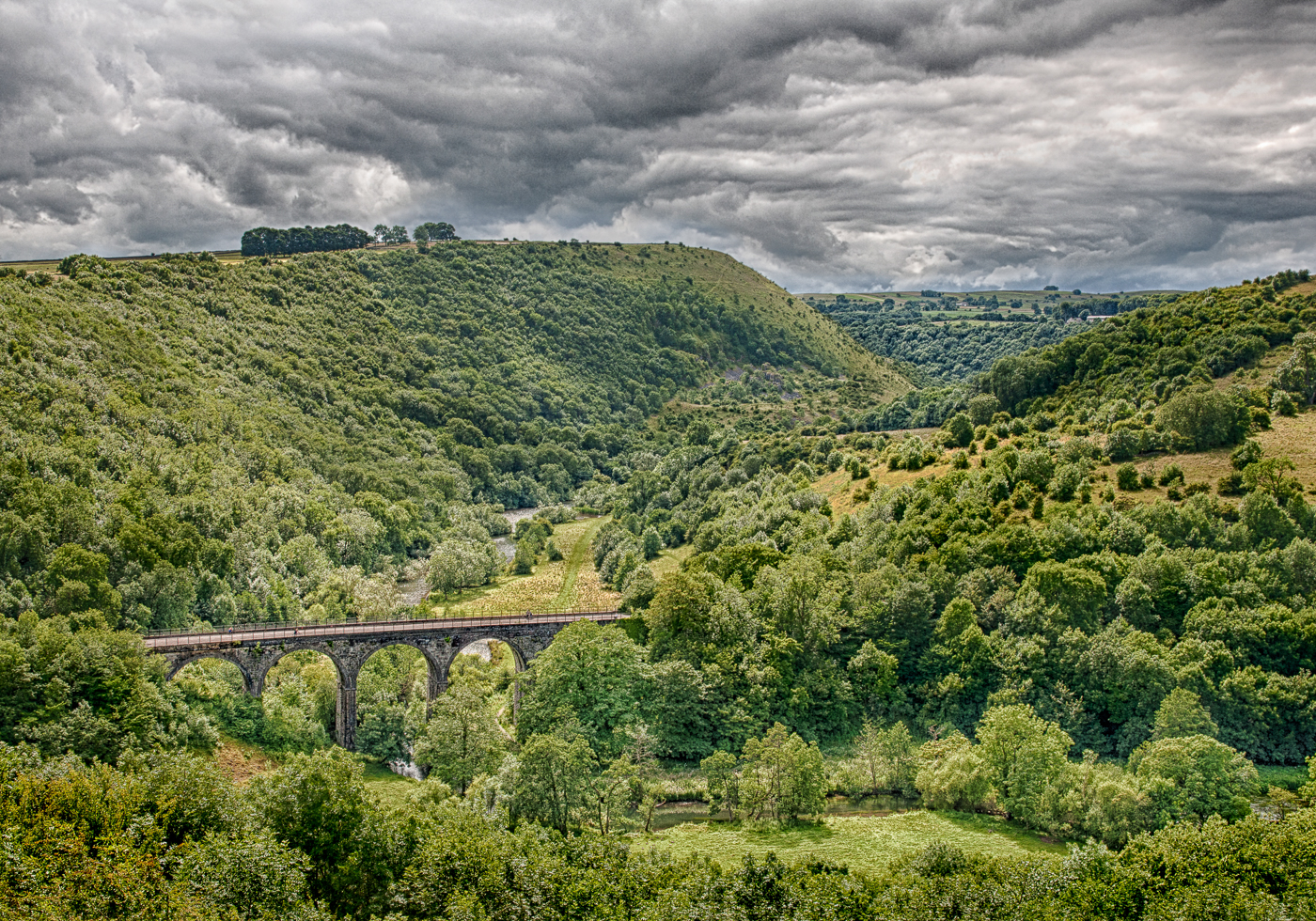 Storm brewing over Monsal Dale