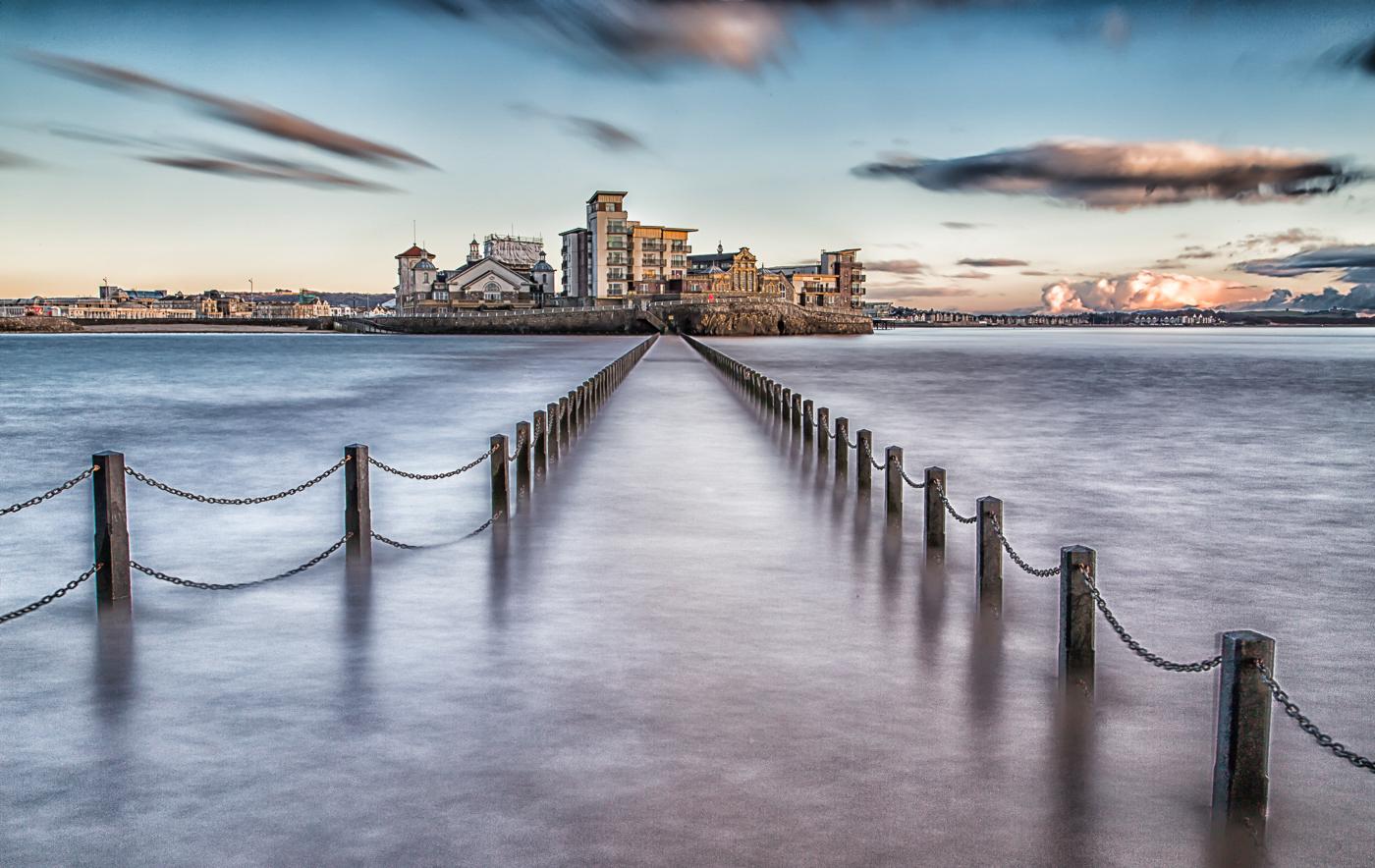 High tide at Weston super Mare