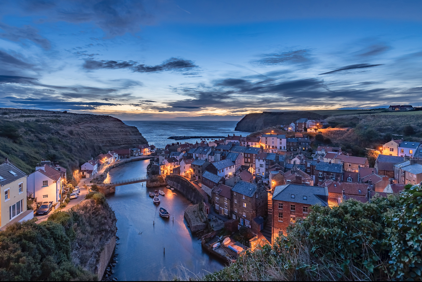 Staithes Harbour Just Before Dawn
