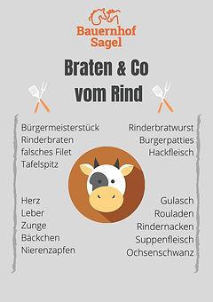 Einzelware Rindfleisch Braten & Co.