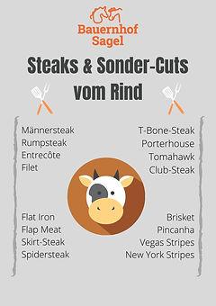 Einzelware Rindfleisch Steaks & Sondercuts