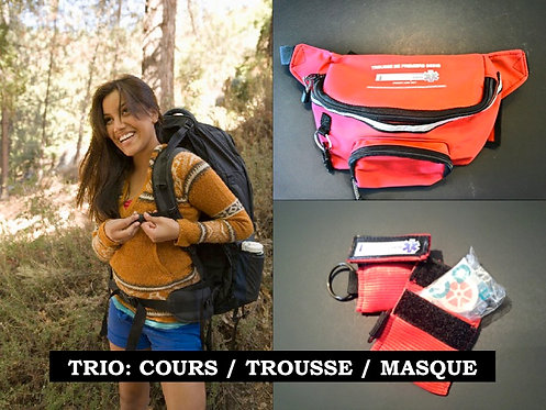 TRIO:  Secourisme Camp de jour 8hrs/Trousse/Masque