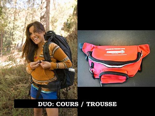 DUO:  Secourisme Camp de jour (8hrs) / Trousse