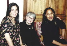 Ethel with daughters-in-law Josette Huber and Sandra Dixon.