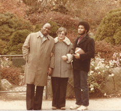 Ethel with Major and Geoffrey.