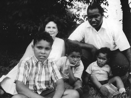 The young family:  Christopher, Ethel, Geoffrey, Major and Millard.