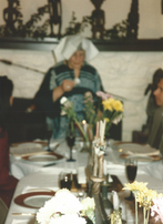 Same occasion (Passover) -- different year.  Same outfit -- different napkin.