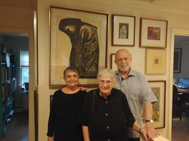 Ethel visits former University of Puerto Rico student Alma Conepcion and her husband in Princeton, NJ