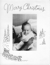 The first child, Christopher, at 6 months.