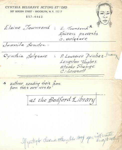 Cynthia Belgrave Poetry Reading (2 of 2)