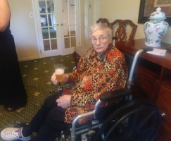 Ethel in rehab after beating pneumonia in 2019.