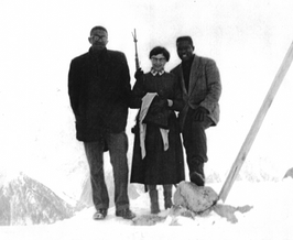 Ethel travels Europe with former Morehouse student Finley Campbell and husband Major Owens, also a former Morehouse College student.  Despite appearances, Ethel is NOT holding a maching gun!