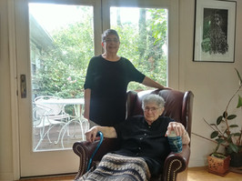 Ethel visits former University of Puerto Rico student Alma Conepcion in Princeton, NJ