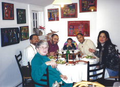 Three-generation family gathering in Westport, CT.