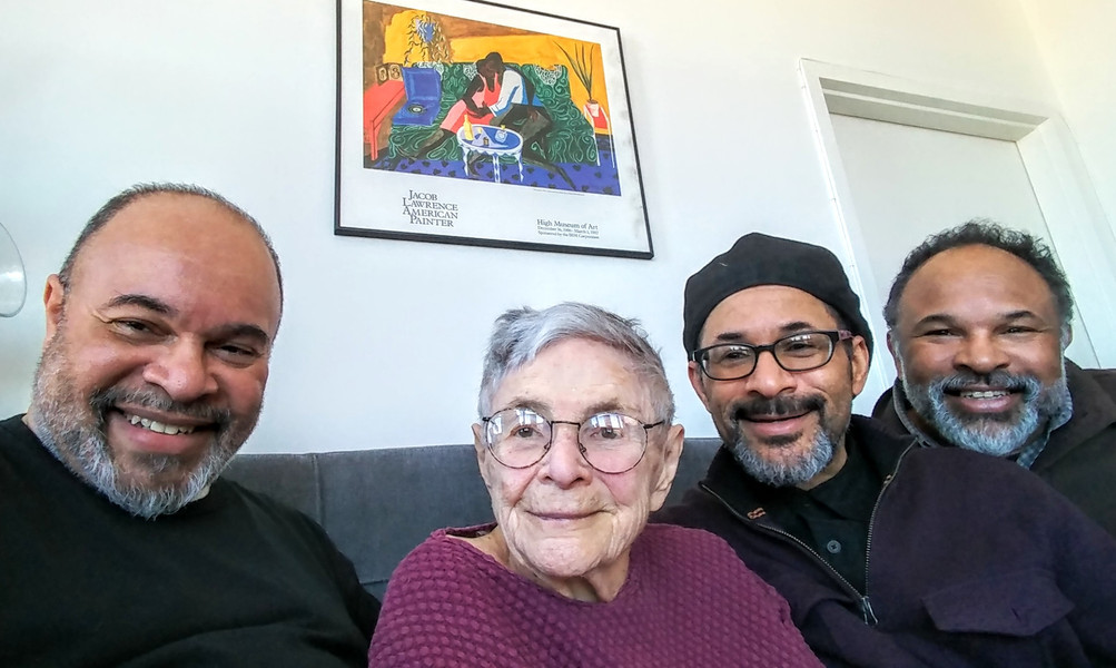 She's 96!  Mom & The Boys celebrate Brooklyn!