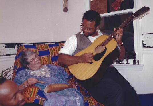 Ethel serenaded by Geoffrey.