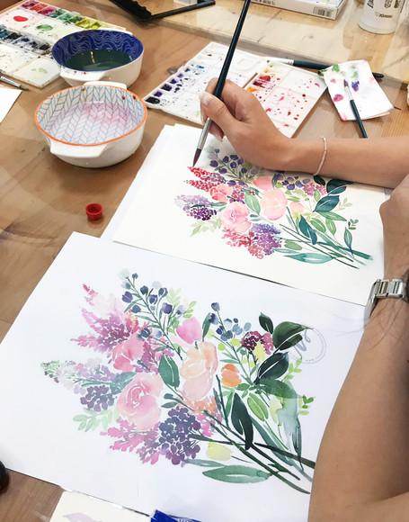 simple watercolor workshop