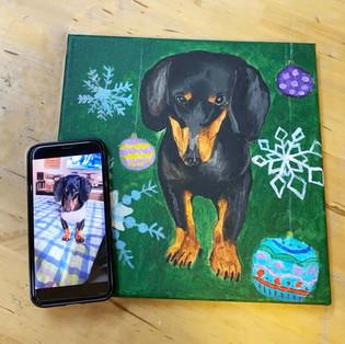 Kids Acrylic pet painting