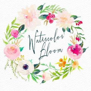 simple watercolor wreath 水彩渲染