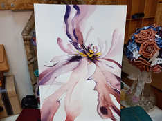 Watercolor abstract flowers