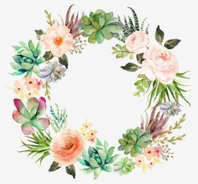 advance beautiful wreath painting