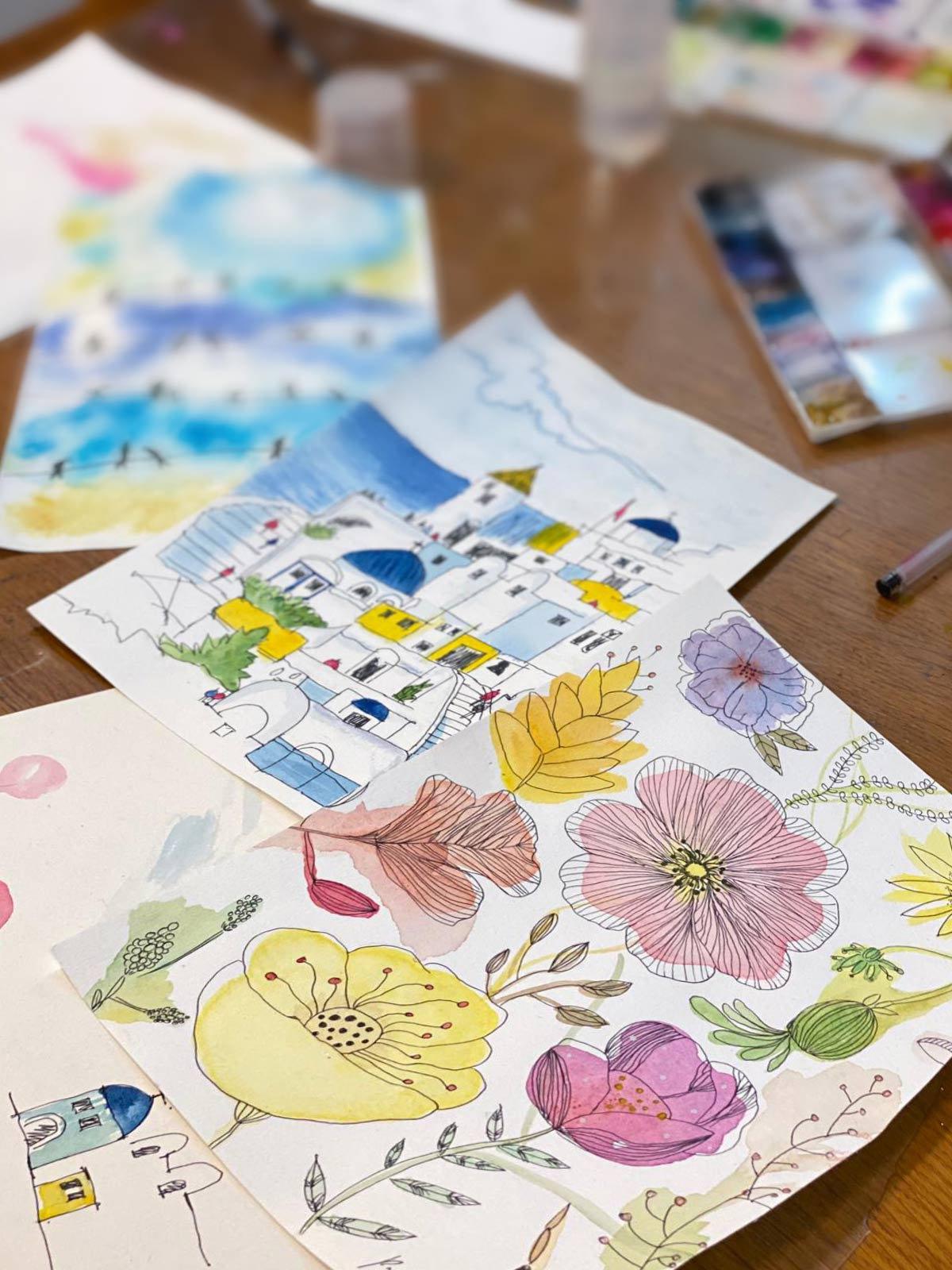 水彩花卉工作坊 / Floral Painting Workshop