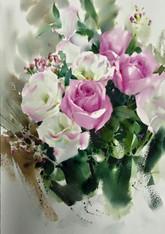 tim sir watercolor floral demo