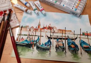 水彩威尼斯旅遊風景畫冊
