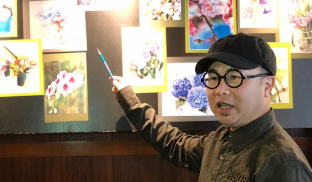 timsir floral painting course花卉繪畫研討會