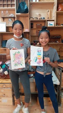 sisters in workshop