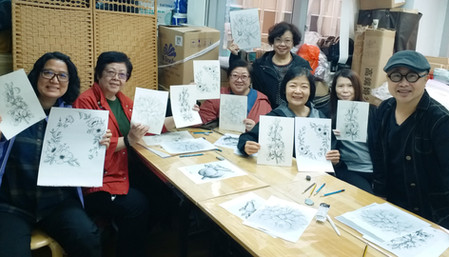水彩花環繪畫班在旺⻆喬林社