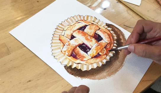 Tim sir dessert-painting