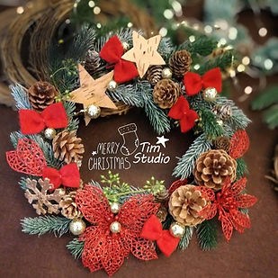 christmas wreath with light workshop