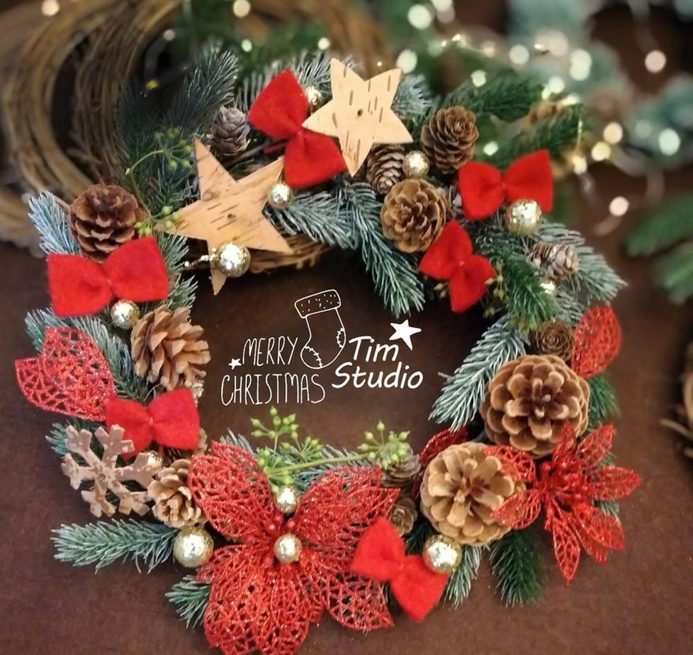 christmas wreath 聖誕花環