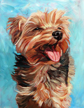 oil painting pet dog
