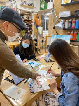 Tim Studio Causeway Bay painting class