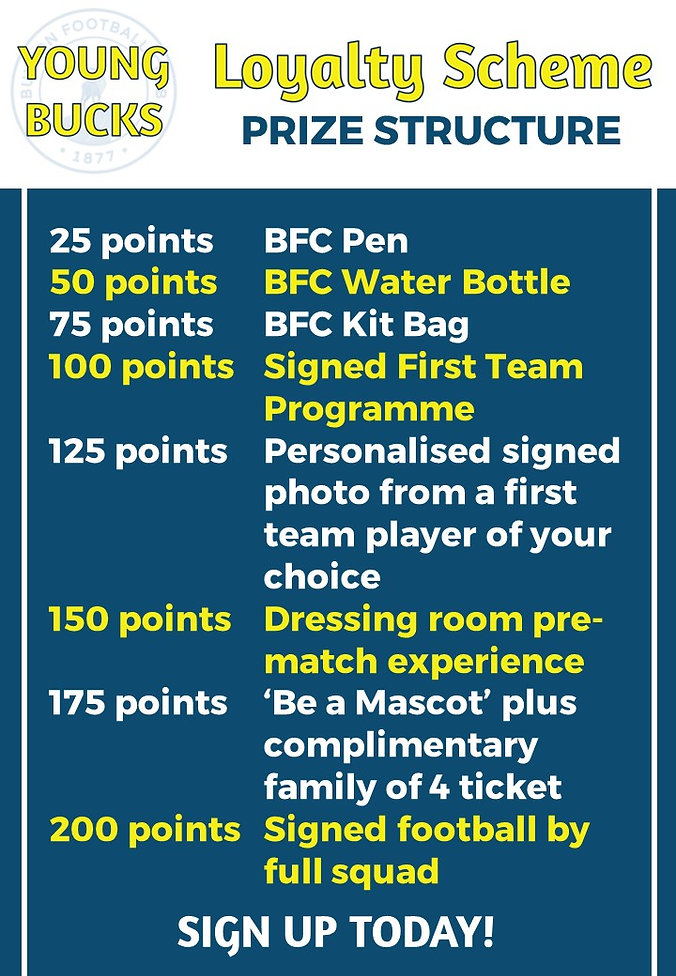 Junior Bucks Promo Points Scheme Flyer P