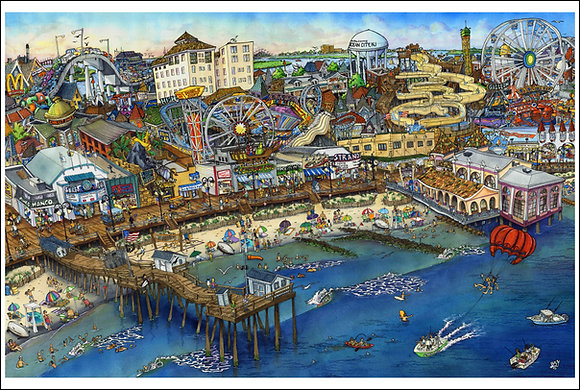 Ocean City Boardwalk (24x36)