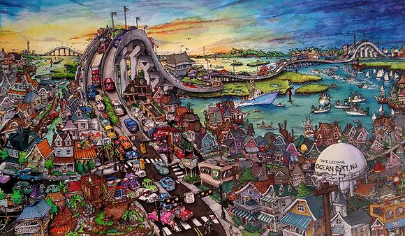Ocean City Bay Life - Komatex (hard board print)