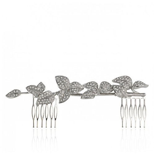 Wisteria Dusk Petite Hair Comb - Silver