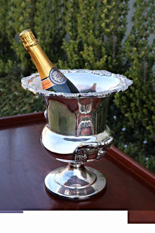 Large Silver plated Champagne